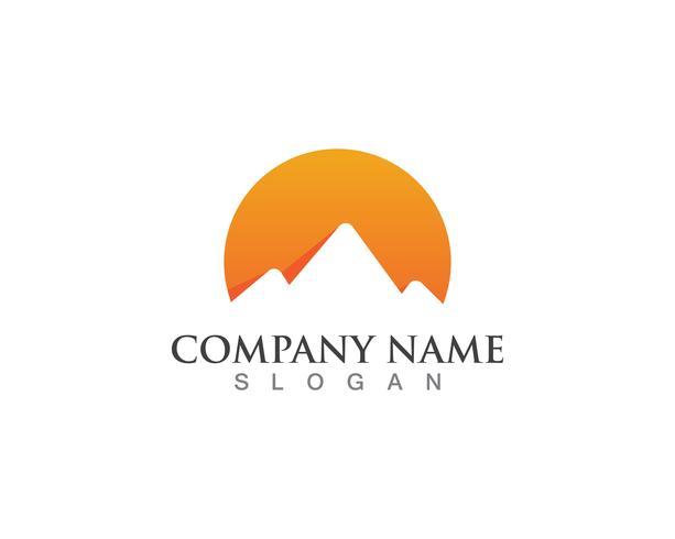 Mountain logo vektor mall symboler