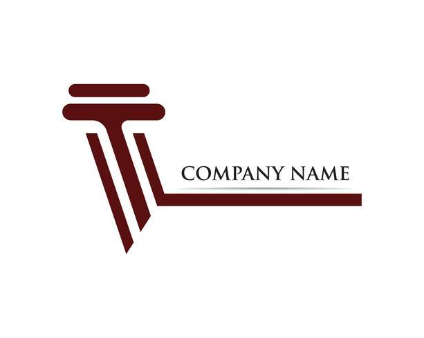 colonna Logo Template vettoriale illustrazione