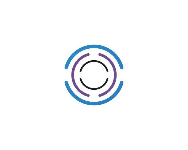 Plantillas de vectores logo de círculo