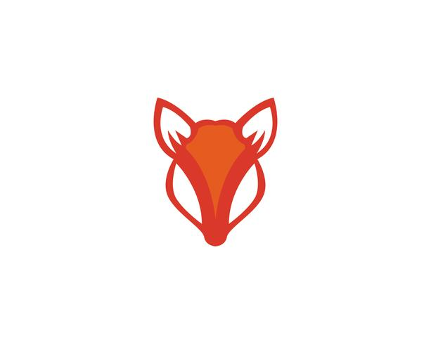 Fox logo vector plantilla ilustrador