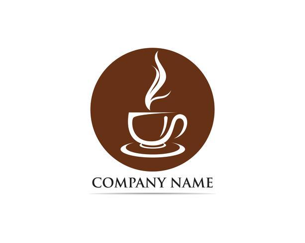 Taza de café Logo plantilla vector icono