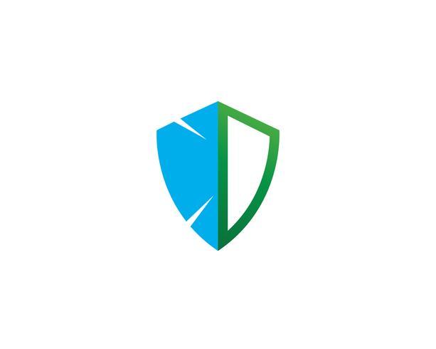 Bouclier Modèle de vecteur de conception logo garde de sécurité
