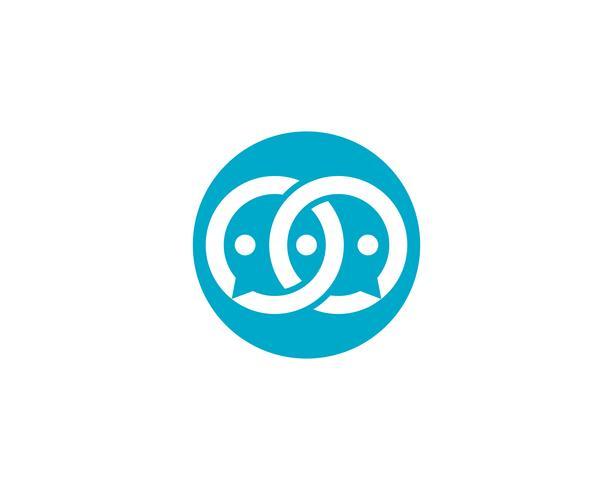 Vetor de logotipo de bate-papo de bolha
