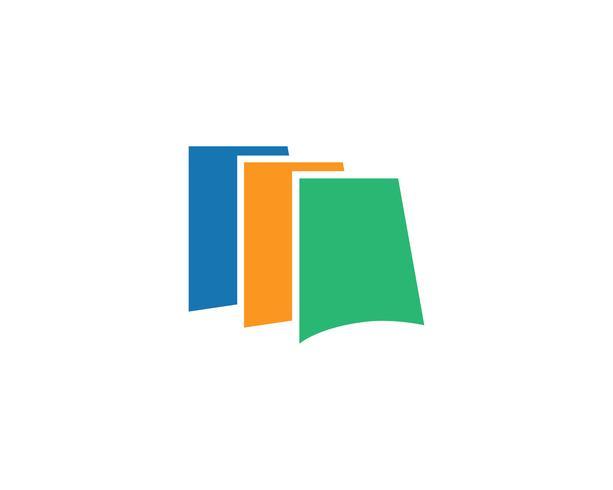 Onderwijs boek Logo sjabloon vectorillustratie