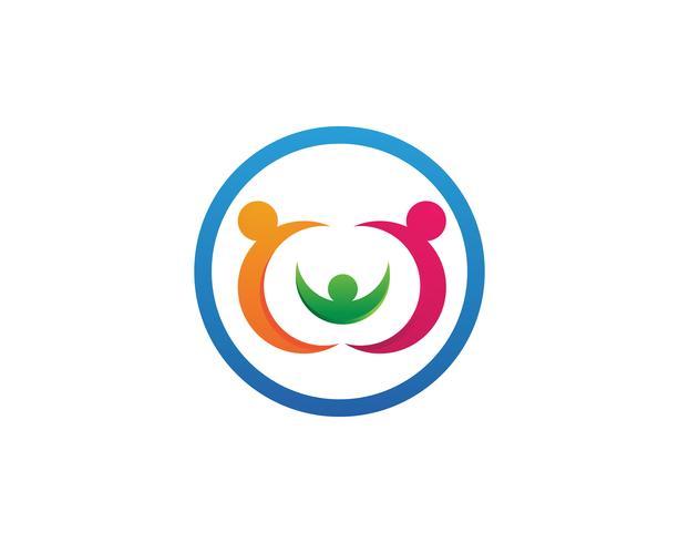 Antagningsvård Logo mall vektor