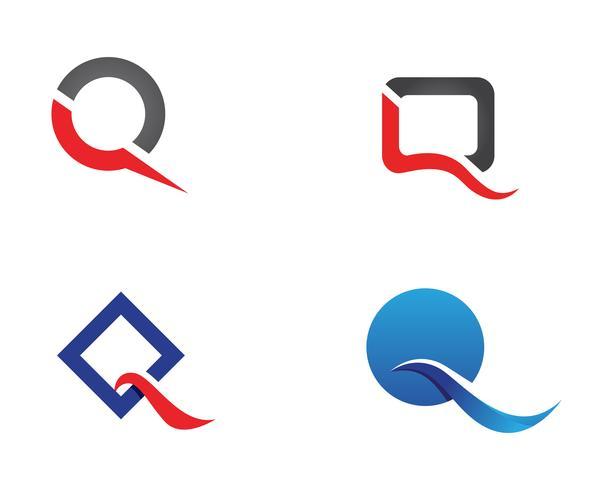 Q carta Logo plantilla vector