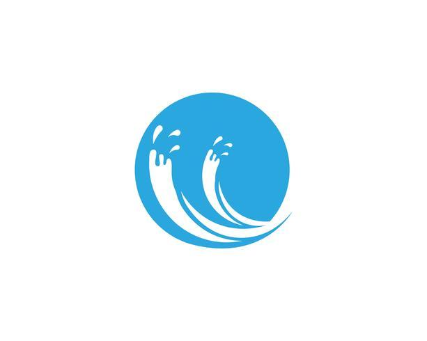 Respingo água azul natureza logo