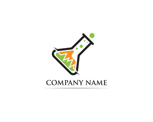 Lab logo vector icon template illustration