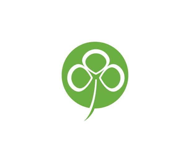 Grön Clover Leaf Logo Mall