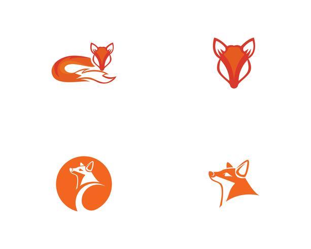 Fox logo vektor mall illustratör