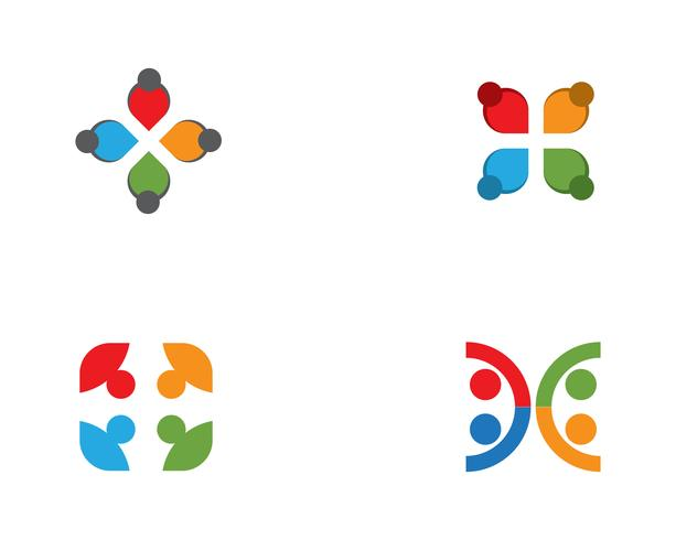 gemenskapsvård Logo mall vektor
