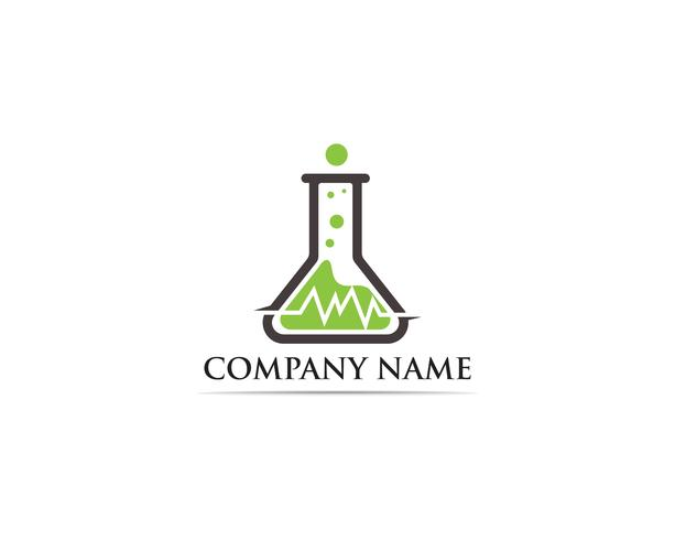 Lab logo vector icon template illustration