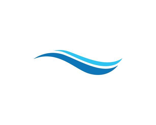 vague eau logo plage bleu