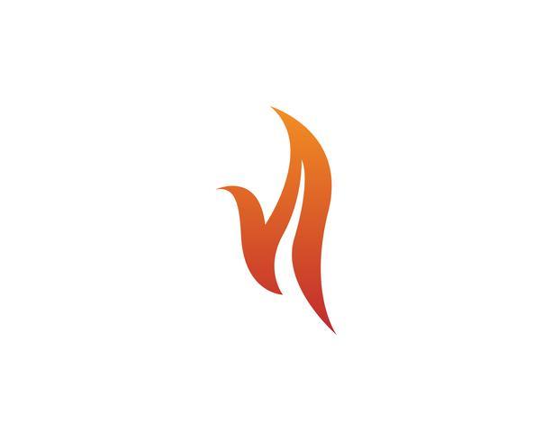 Logotipo de ícone de vetor de fogo