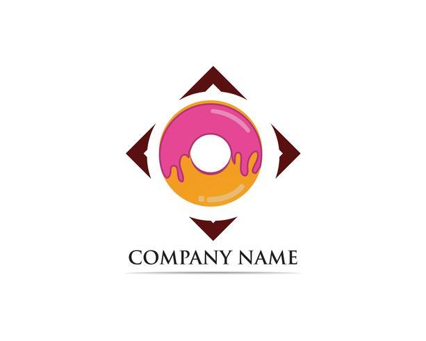 Donuts logo vector illustration de modèle