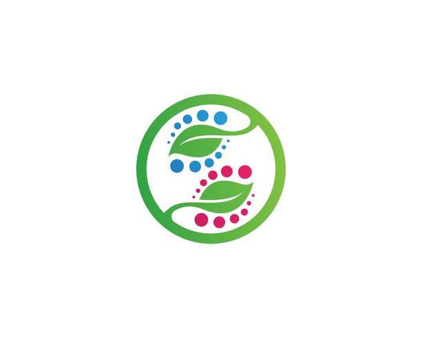 Logos du vecteur d'élément nature feuille verte écologie