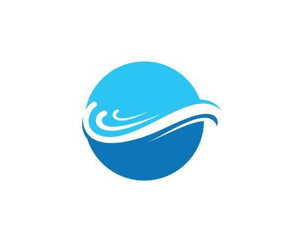 onda acqua logo spiaggia blu
