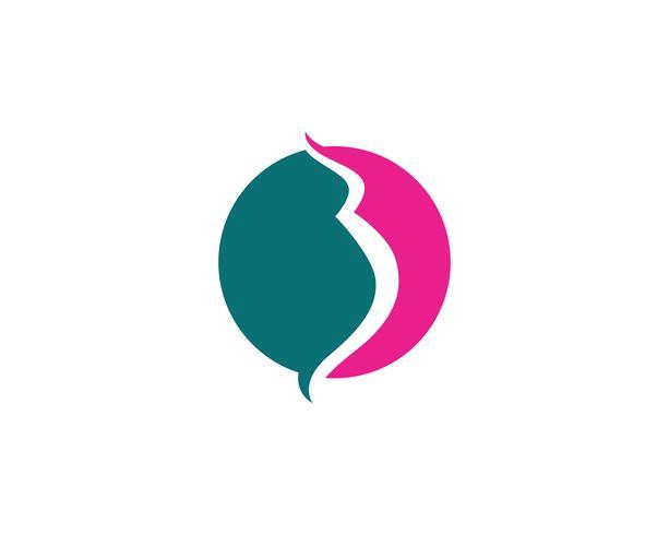 Pregnant logo template vector icon illustration