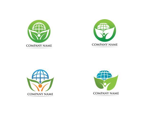 Gå grön logo vektor illustration