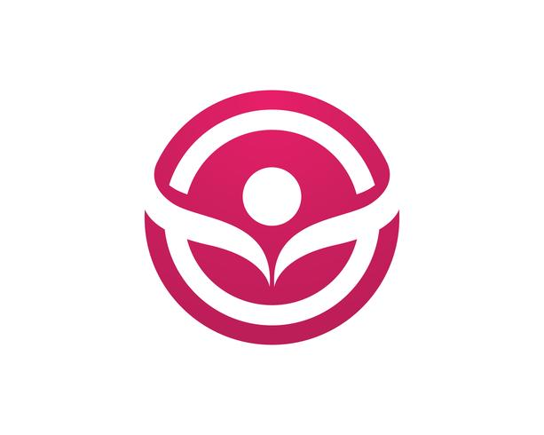 mensen verzorgen succes gezondheid leven logo-vector