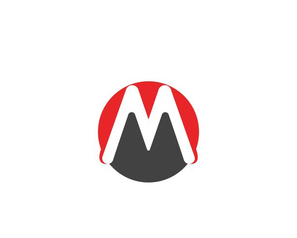 Diseño del ejemplo del vector de la plantilla del logotipo de la onda de agua de la letra M
