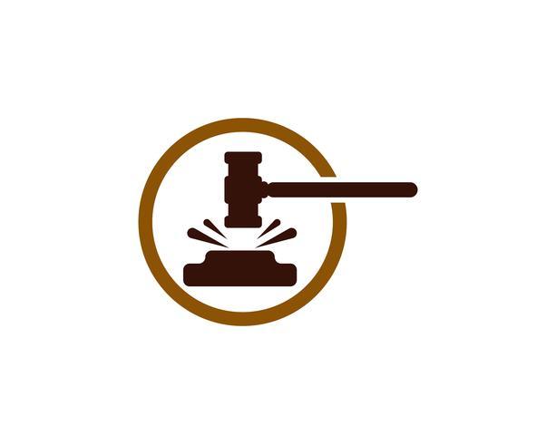 Hammer court Vector icon design illustration