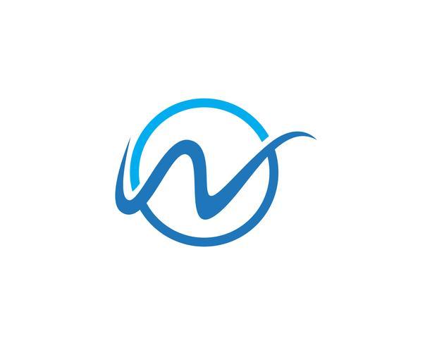 Modèle vectoriel de logo W
