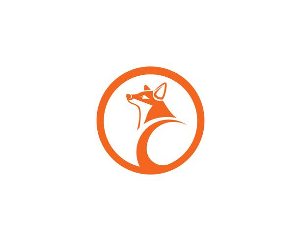 Ilustrador de modelo de vetor logo Fox