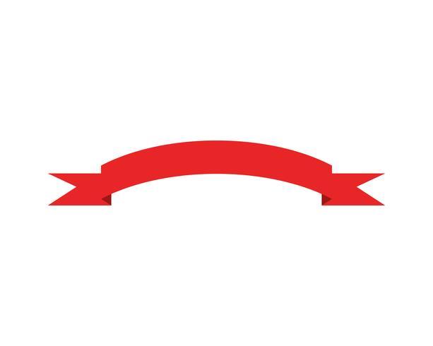 Bandiere di nastri piatto vettore isolato su bianco