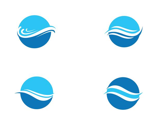 vague eau logo plage bleu