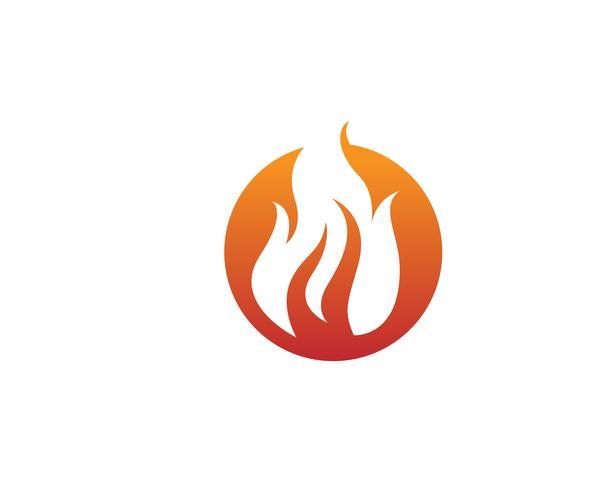 Feuer Vektor Icon-Logo