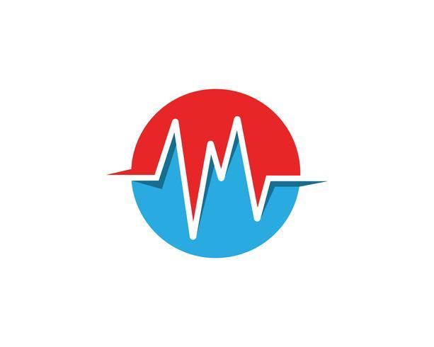 ícone de vetor de logotipo de onda sonora