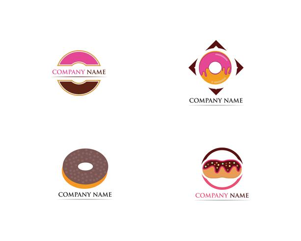 Donuts logo vector illustration de modèle