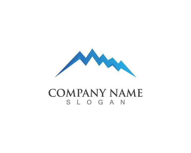 Symboles de modèle de vecteur logo montagne