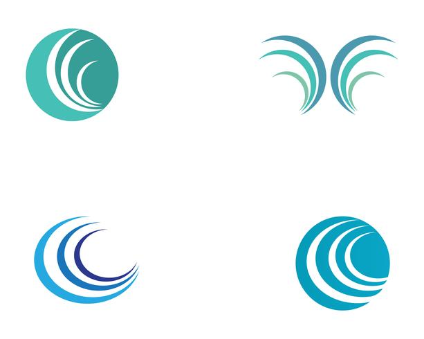 våg vatten logotyp strand