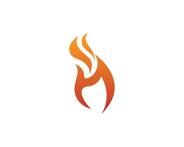 Logo de icono de vector de fuego