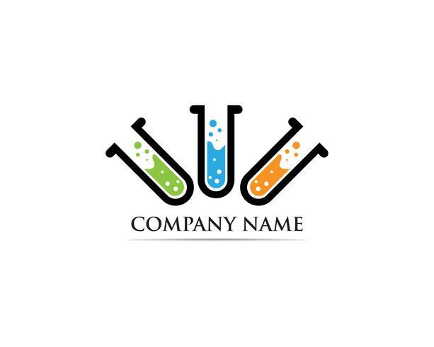 Lab ilustração de modelo de ícone de vetor de logotipo