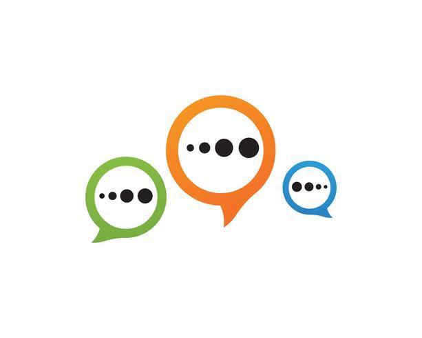 Icône de bulle de dialogue Logo illustration vectorielle modèle