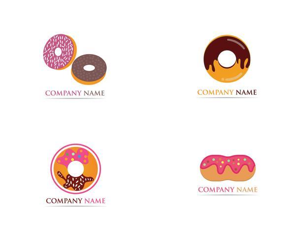 Donuts logo vector sjabloon illustratie