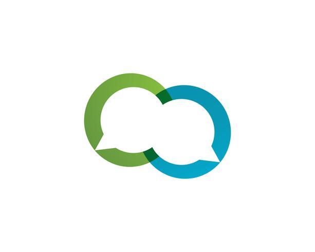 Burbuja chat logo vector