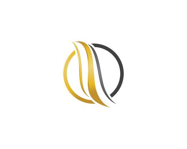 haar golf logo en symbolen vector