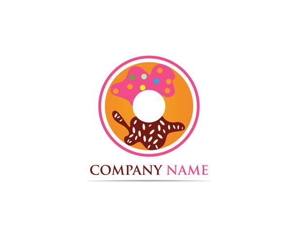 Rosquinhas logo vector modelo ilustração