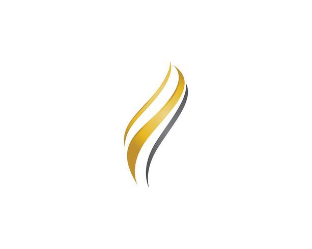 hair wave  logo and symbols vector
