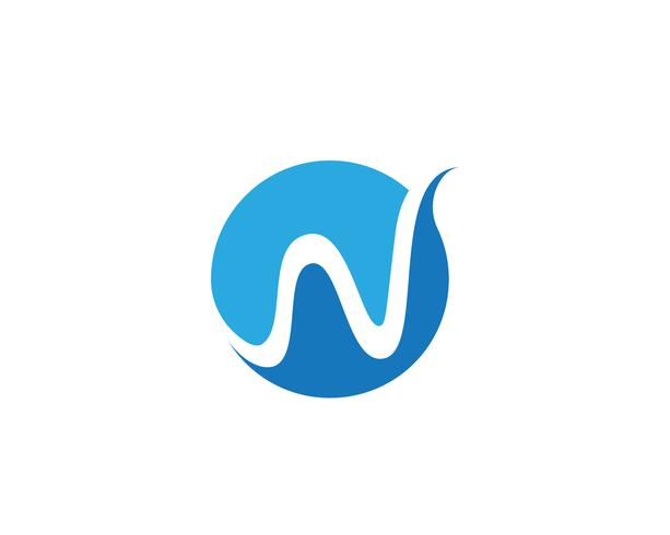 W Letter Water wave Logo Template vector illustration