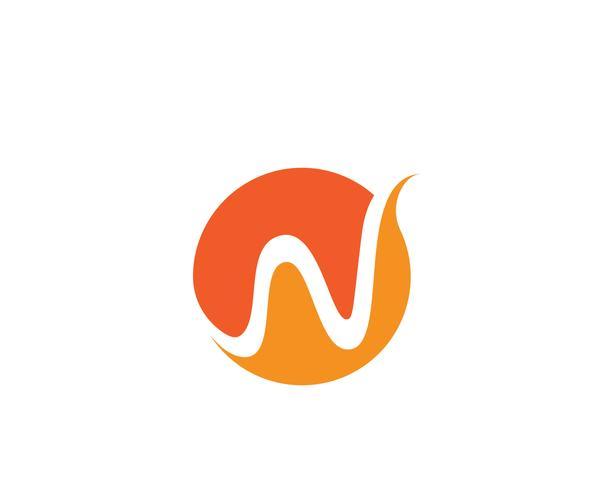 Ilustración de vector de plantilla de logotipo de onda de agua letra W