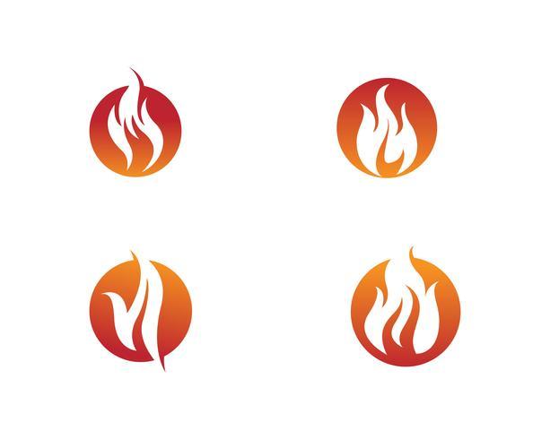 Fire vector icon logo