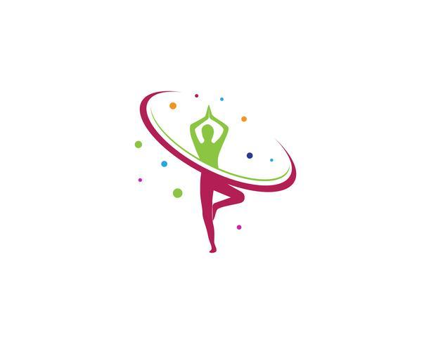 Yoga health logo vector template