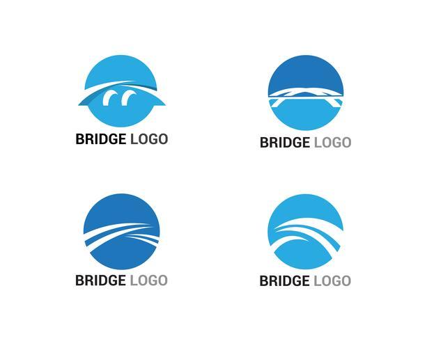 Bridge logo and symbol vector template building