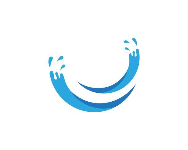 Splash agua azul naturaleza logo