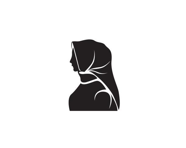Hijab Vektor schwarzes Logo